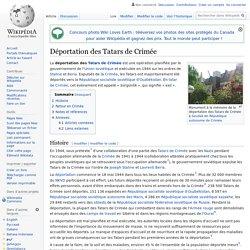 Déportation des Tatars de Crimée