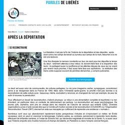 Après la déportation — Paroles de libérés