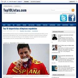 Top 10 deportistas olímpicos españoles - Top 10 Listas