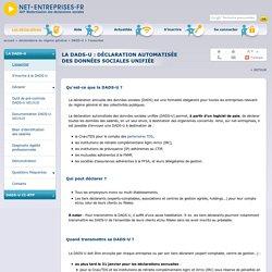 DADS-U, pour déposer un fichier sur net-entreprises.fr