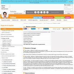 Déposer un modèle - AFE, Agence France Entrepreneur
