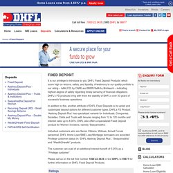 Tax Saving Fixed Deposit Schemes - DHFL