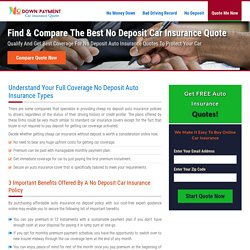 No Deposit Auto Insurance, Buy Instant Car Insurance with No Deposit