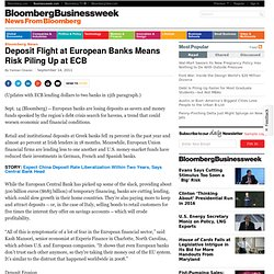 Deposit Flight at European Banks Means Risk Piling Up at ECB