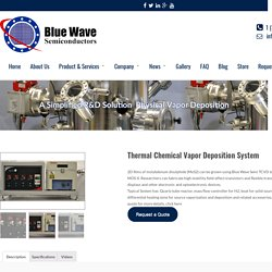 Thermal Chemical Vapor Deposition System - Bluewave Semiconductors