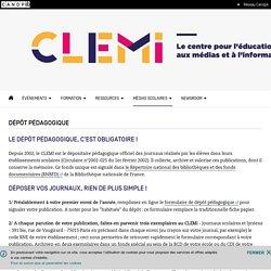 Dépôt pédagogique- CLEMI