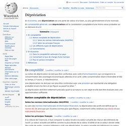 Dépréciation