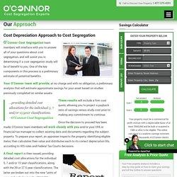 Cost Depreciation Approach, Cost Segregation
