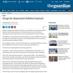 Drugs for depressed children banned
