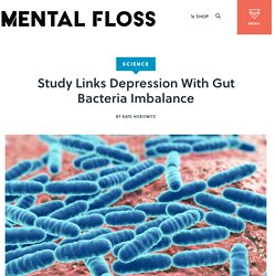 Study Links Depression With Gut Bacteria Imbalance