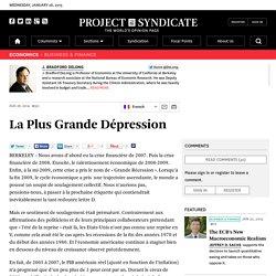 La Plus Grande Dépression by J. Bradford DeLong