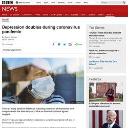 Depression doubles during coronavirus pandemic
