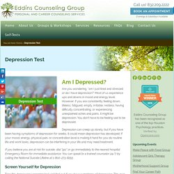 Depression Test - Eddins Counseling Group - Houston