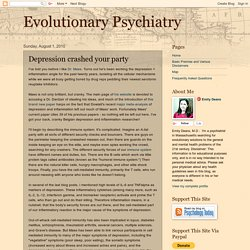 Evolutionary Psychiatry: Depression crashed your party