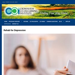 Rehab for Depression - Crownview CO-Occurring Institute
