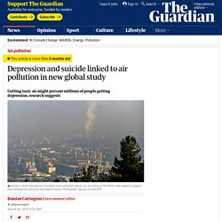 Depression and suicide linked to air pollution in new global study