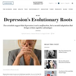 Depression's Evolutionary Roots
