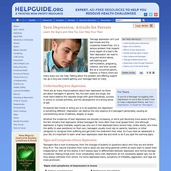 Teen Depression: Guide for Parents—Learn the Signs and How You Can Help Your Teen