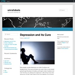 Depression and its Cure