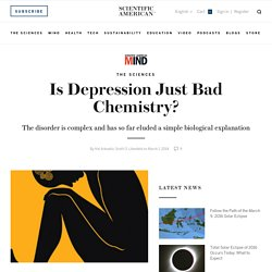 Is Depression Just Bad Chemistry?