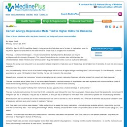 Certain Allergy, Depression Meds Tied to Higher Odds for Dementia: MedlinePlus