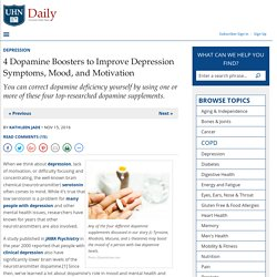 4 Dopamine Boosters to Improve Depression Symptoms, Mood, and Motivation - University Health News