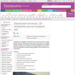 Dépression - Les vrais signes de la dépression