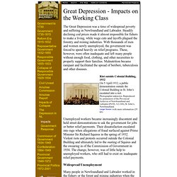 Great Depression – Impacts on the Working Class: Newfoundland and Labrador Heritage