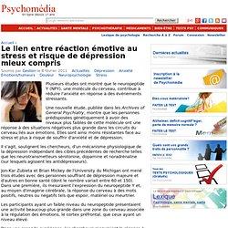 Le lien entre réaction émotive au stress et risque de dépression mieux compris