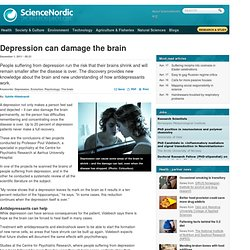 Depression can damage the brain