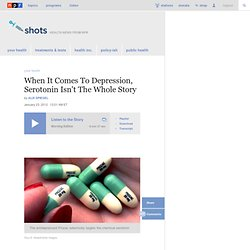 When It Comes To Depression, Serotonin Isn't The Whole Story : Shots - Health Blog