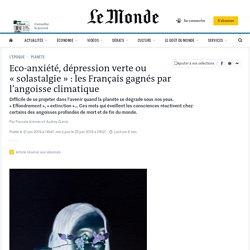 Eco-anxiété, dépression verte ou «solastalgie» : les Français gagnés par l'angoisse climatique