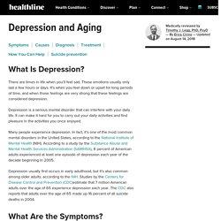 Depression and the Elderly: Symptoms, Statistics, Treatment & More