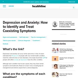 Depression and Anxiety: Symptoms, Self-Help Test, Treatment, and