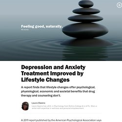 Depression and Anxiety Treatment Improved by Lifestyle Changes