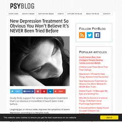 New Depression Treatment So Obvious You Won't Believe It's NEVER Been Tried Before