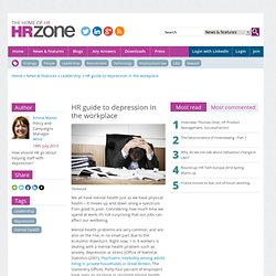 HR guide to depression in the workplace