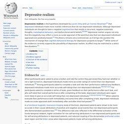 Depressive realism