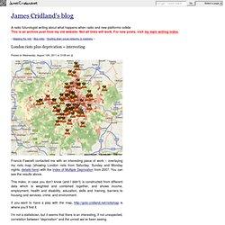 London riots plus deprivation = interesting