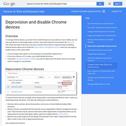 Deprovision and disable Chrome devices - Chrome for Work and Education Help