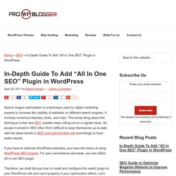 "In-Depth Guide To Add ""All In One SEO"" Plugin in WordPress"