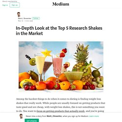 In-Depth Look at the Top 5 Research Shakes in the Market