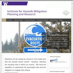 Institute for Hazards Planning Mitigation and Research