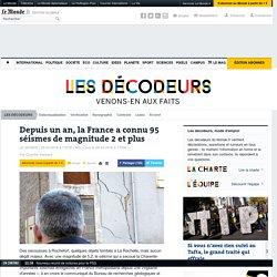 Depuis un an, la France a connu 95 séismes de magnitude 2 et plus