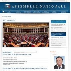 577 députés - Assemblée nationale