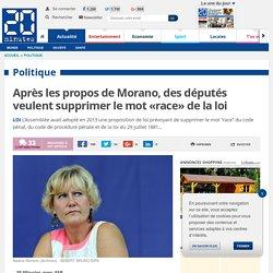 Après les propos de Morano, des députés veulent supprimer le mot «race» de la loi