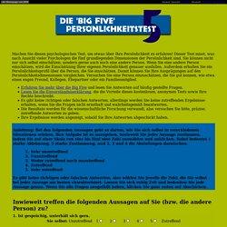 Der Big Five Persönlichkeitstest