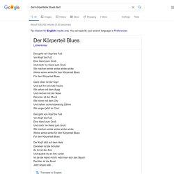 der körperteile blues text