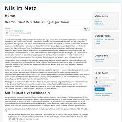 Der 'Solitaire' Verschlüsselungsalgorithmus - Nils im Netz