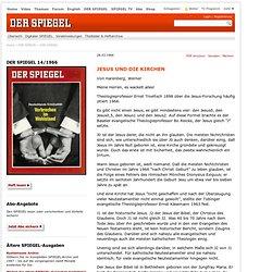 DER SPIEGEL14/1966 - JESUS UND DIE KIRCHEN
